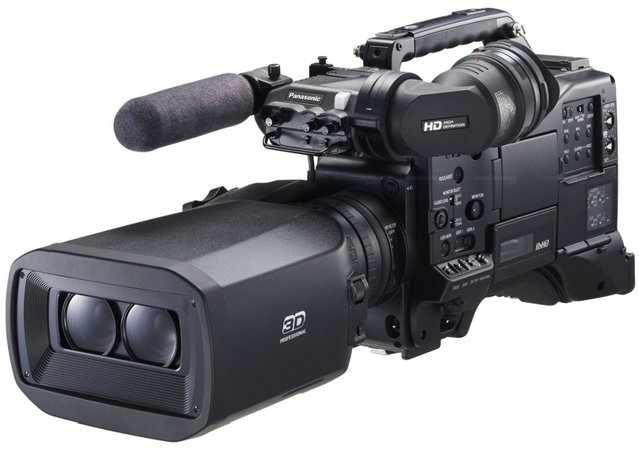 PANASONIC AG-3DP1 3D P2 HD Shoulder Mount Camcorder With Master Quality