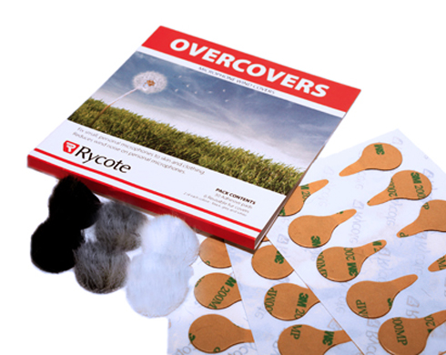 RYCOTE OVERCOVERS KIT  ( 6 pcs.  Lavalier Fur Windjammers + 30 pcs. Adhesive Mount Pads )