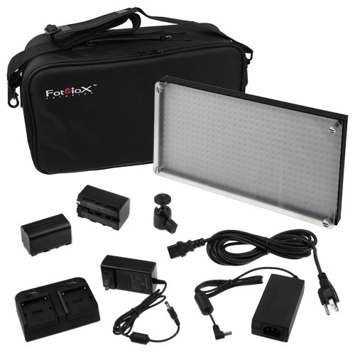 FOTODIOX LED 508AS ( 508 ) PROFESSIONAL PHOTO / VIDEO LIGHT KIT + 2 X NP-F750 + BAG + DOUBLE CHARGER