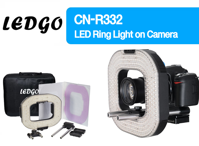 LEDGO LG-R332 / CN-R332 RING LIGHT with 2 X ROD SYSTEMS