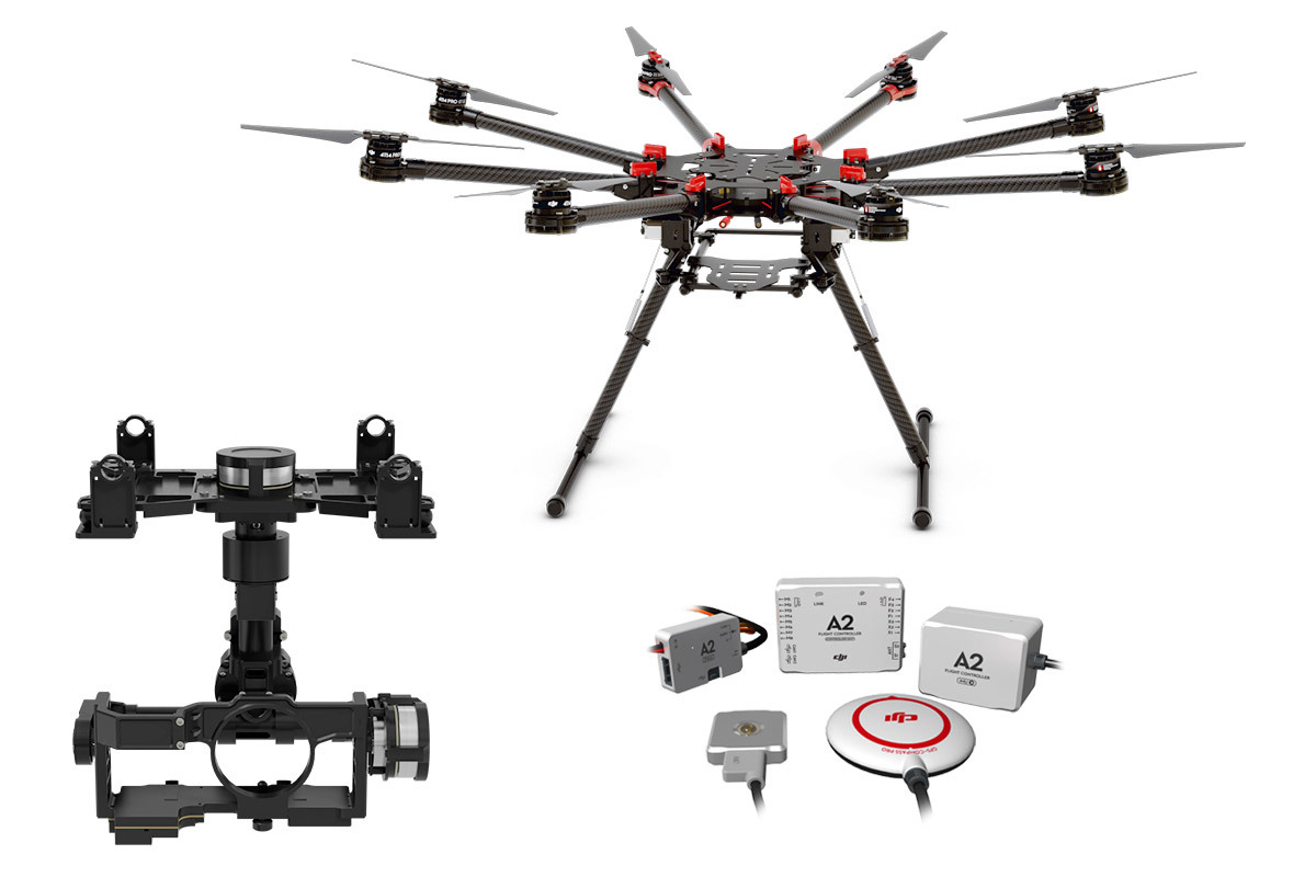 DJI S1000 OCTOCOPTER with SPREADING WINGS + A2 + Z15-GH4 (HD)