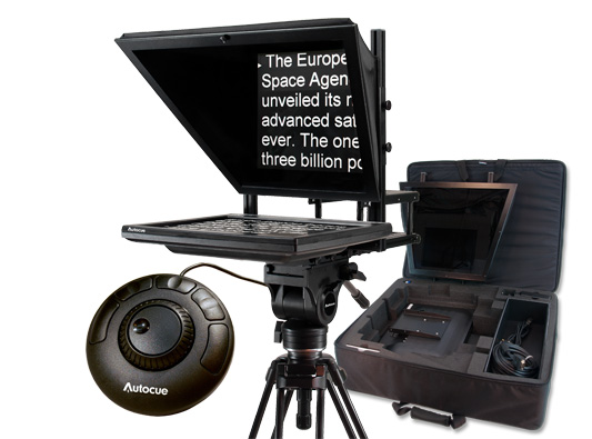 AUTOCUE 17 Inch Prompter Package, QStart + Controller + Carry Case