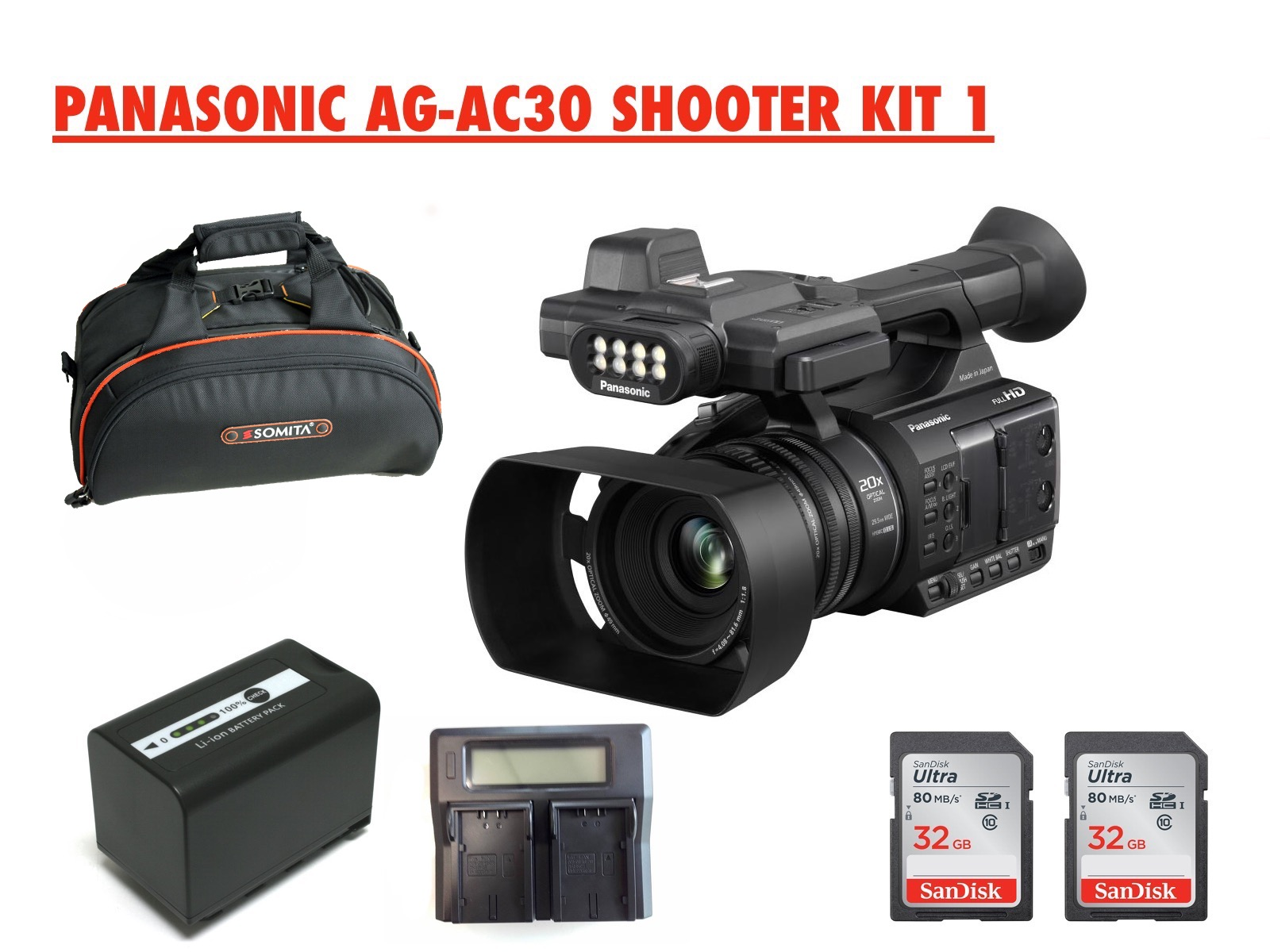 PANASONIC AG-AC30 SHOOTER KIT 1