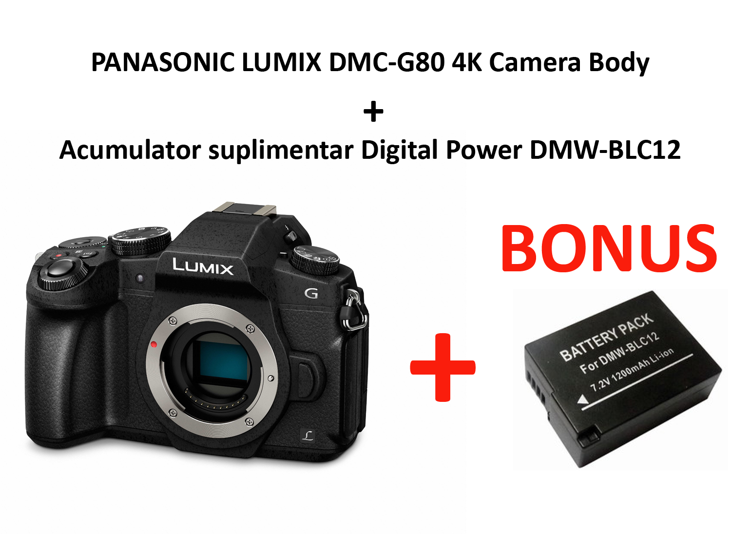 PANASONIC LUMIX DMC-G80 4K Camera Body