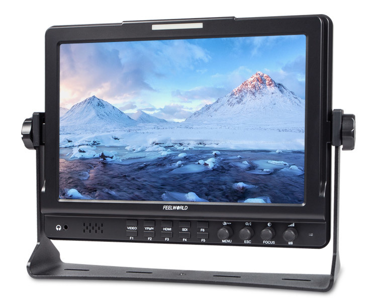 FeelWorld FW1018 10.1in Camera-Top 1280x800 IPS Screen HD Field Video Monitor