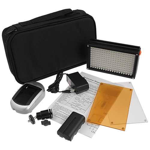 FOTODIOX LED 209AS (LED 209) BICOLOR LIGHT KIT + DIMMER + BATTERY + CHARGER + BAG