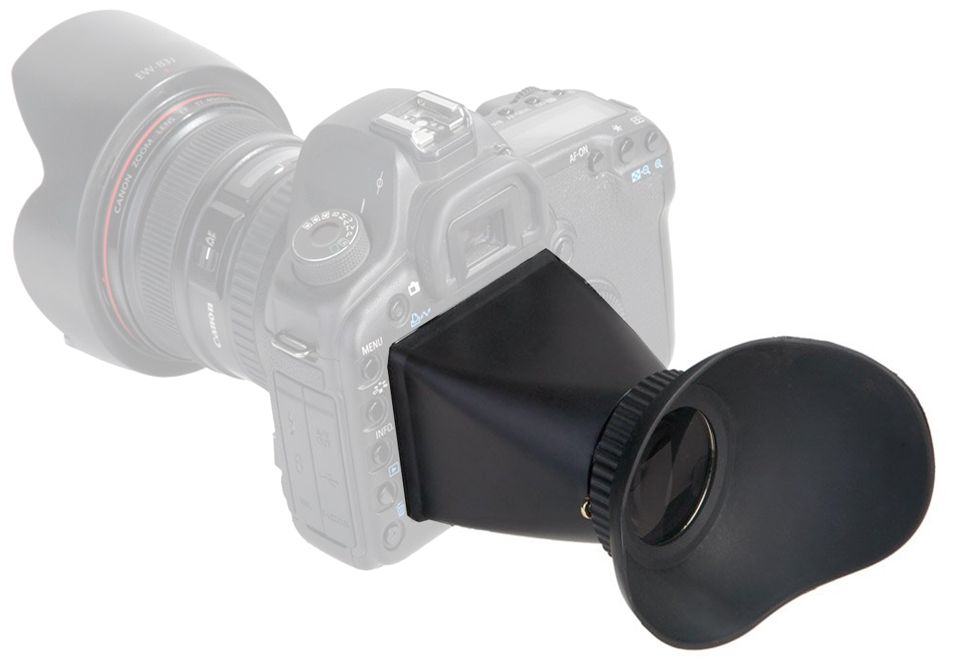 LCD VIEWFINDER  / V-Finder V1 / LCDVF  for  Canon 5D / 7D / 550D / Nikon D300 / D90