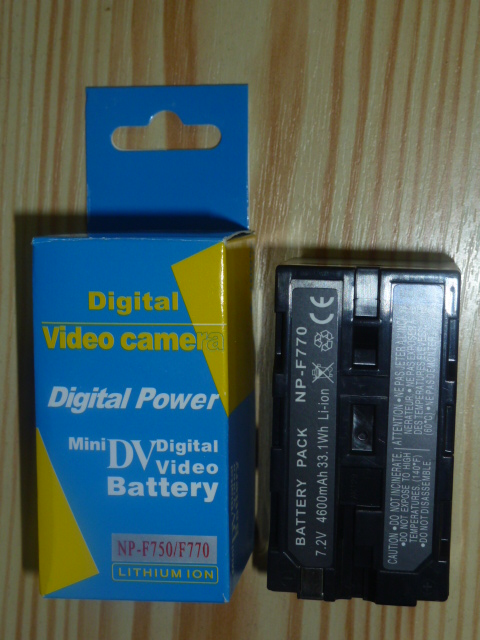 Digital Power NP-F770 / NP-F750 SONY 4800 mAh INFOLITHIUM BATTERY