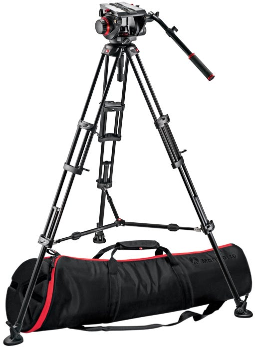 MANFROTTO 509HD Fluid Video Head with 545B ( 545BK ) Tripod Legs & Bag ( 13 Kg )