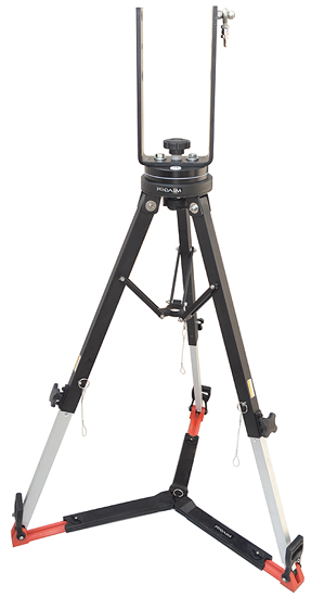 PROAIM 100mm Bowl Tripod Stand LW-100 with Spreader & Assembly Hub for Heavy Duty Jib Cranes