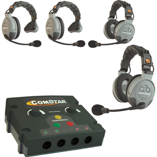 EARTEC COMSTAR FLEX 4 INTERCOM ( Up to 8 Wireless + 4 Wired / 12 Operators )