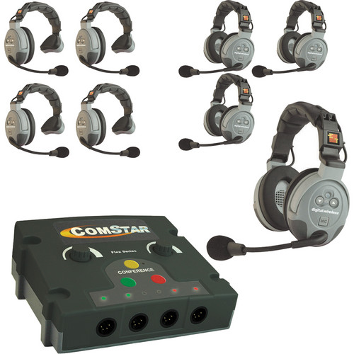 Eartec COMSTAR FLEX 8 INTERCOM ( Up to 8 Wireless + 4 Wired / 12 Operators )