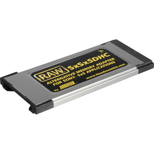 HOODMAN Memory Adapter from SDHC to SxS ( for Sony EX1 / EX3 camcorders )
