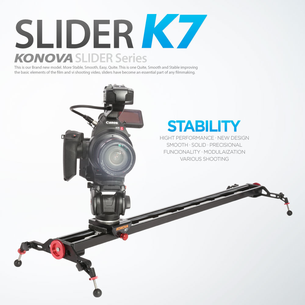 KONOVA K7 CINEMA SLIDER DOLLY TRACK 120 cm