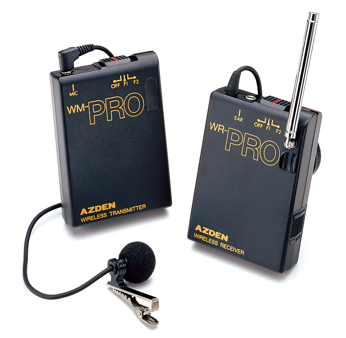 AZDEN WLX-PRO VHF WIRELESS LAVALIER + TRANSMITTER + RECEVER KIT