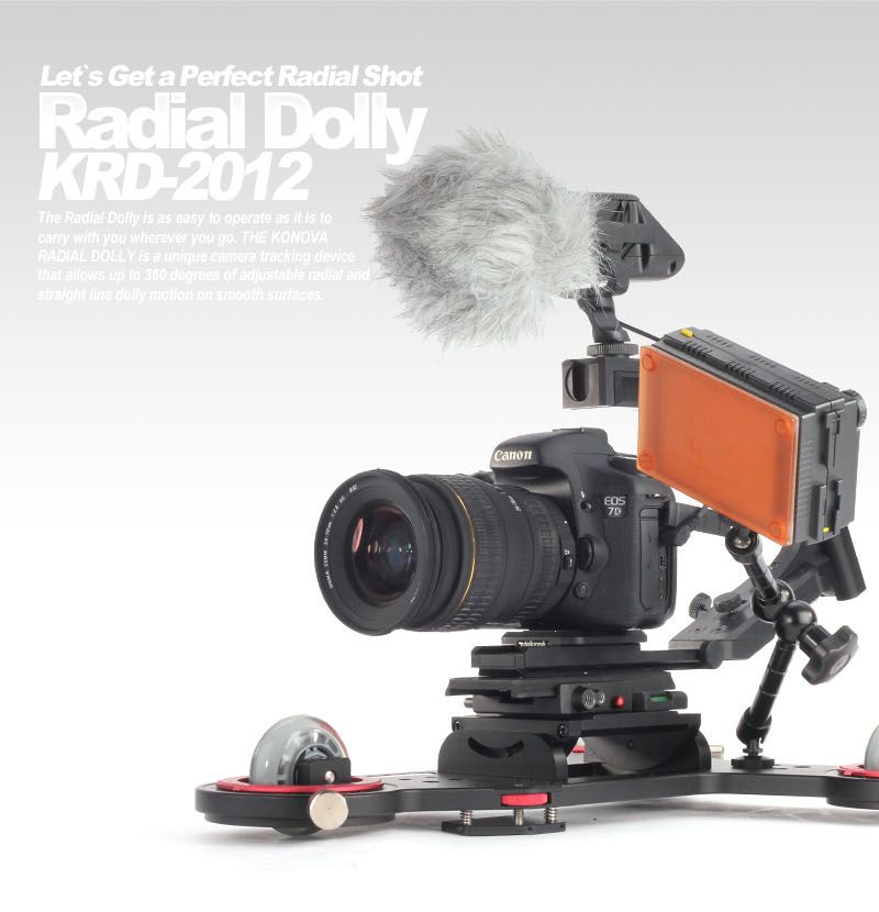 KONOVA SPACESHIP RADIAL SKATER DOLLY LASER GUIDED  KRD-2012
