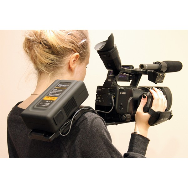 MXM SHOULDER SUPPORT FOR PANASONIC / CANON / JVC / SONY  CAMCORDERS with V LOCK PLATE AND MULTI VOLT