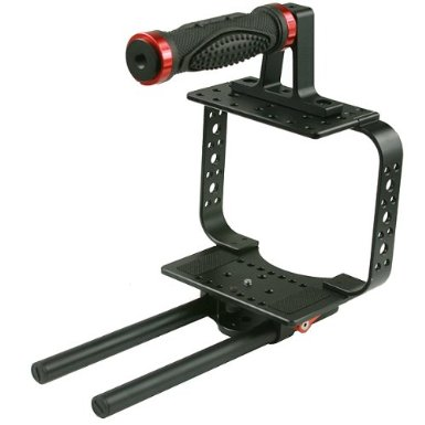 TOP HANDLE BLACKMAGIC CINEMA CAMERA CAGE + 15mm RAIL SYSTEM
