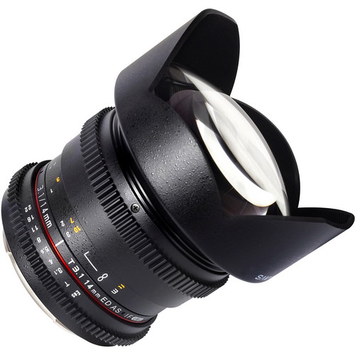 SAMYANG 14mm T3.1 CINE LENS ED AS IF UMC CANON VDSLR EF MOUNT