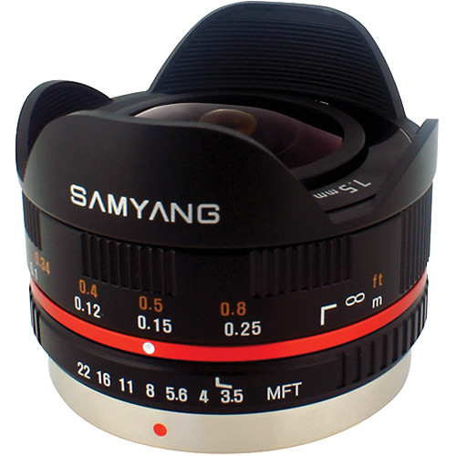 SAMYANG 7.5mm f/3.5 UMC FISHEYE BLACK MFT MOUNT