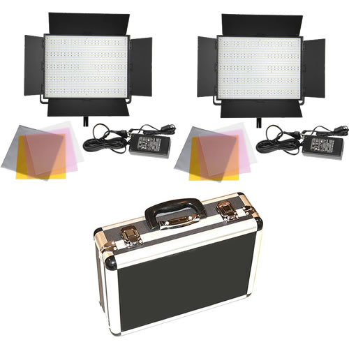 INTERVIEW DOUBLE LED LIGHT KIT CN-1200SA + HARD CASE