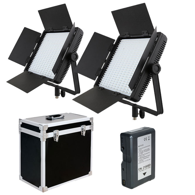 INTERVIEW DOUBLE LED LIGHT KIT CN-900SA + HARD CASE