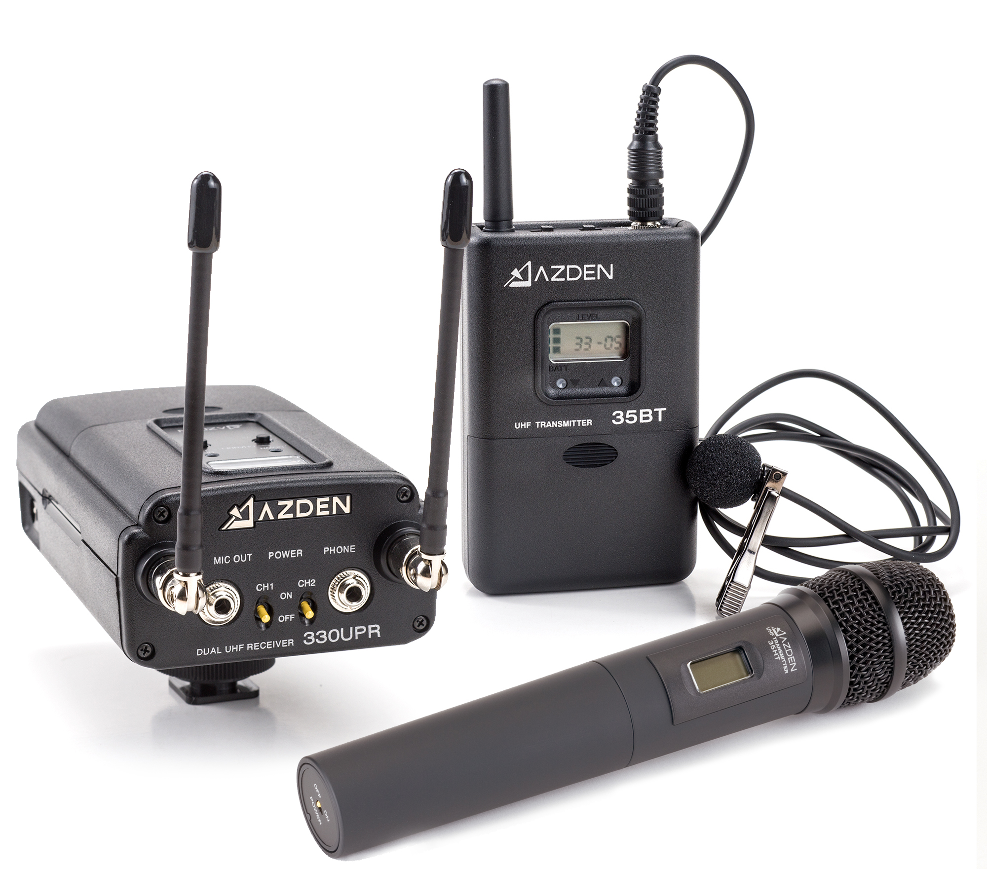 AZDEN  330LH (330 LH) ENG / Pro  Wireless  Dual  Channel  Combo Pack