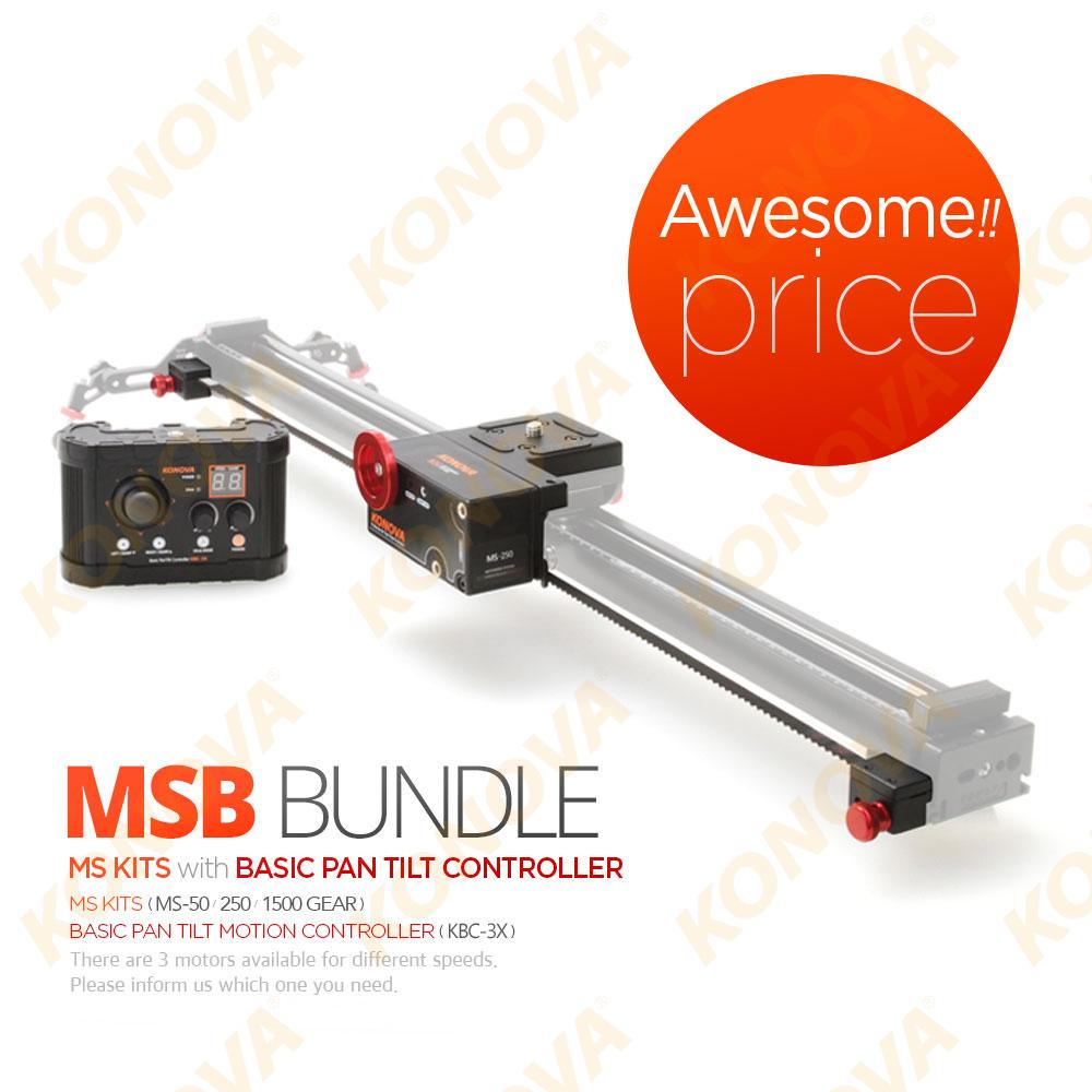 KONOVA MOTORIZED SYSTEM (MS / MSB) + BASIC PAN TILT CONTROLLER For SLIDERS