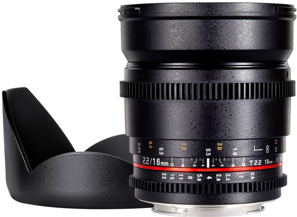 SAMYANG 16mm T2.2 CINE LENS For MFT ( Micro 4/3 )