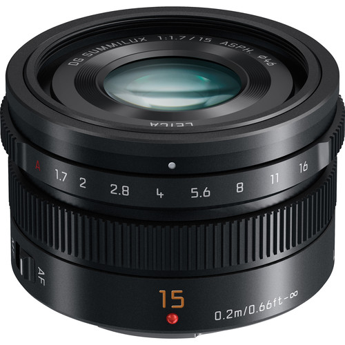 PANASONIC LUMIX G LEICA DG SUMMILUX 15mm f/1.7 BLACK