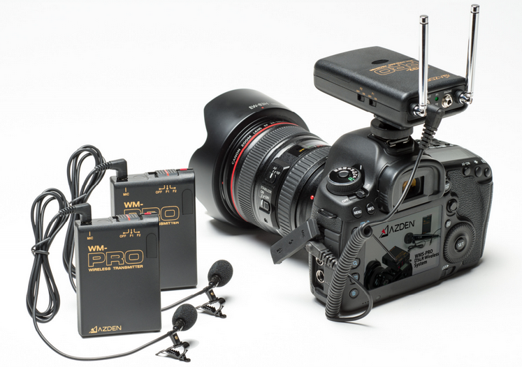 AZDEN WDL-PRO (WDL PRO) DUAL CHANNEL WIRELESS MICROPHONE KIT