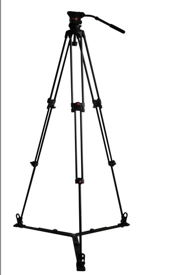 JY0508G CARBON FIBER VIDEO TRIPOD + GROUND SPREADER + JY0606 FLUID HEAD 6 KG / 190 CM