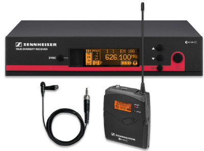 SENNHEISER EW 112 G3 WIRELESS BODYPACK MICROPHONE SYSTEM WITH ME 2 LAVALIER MIC