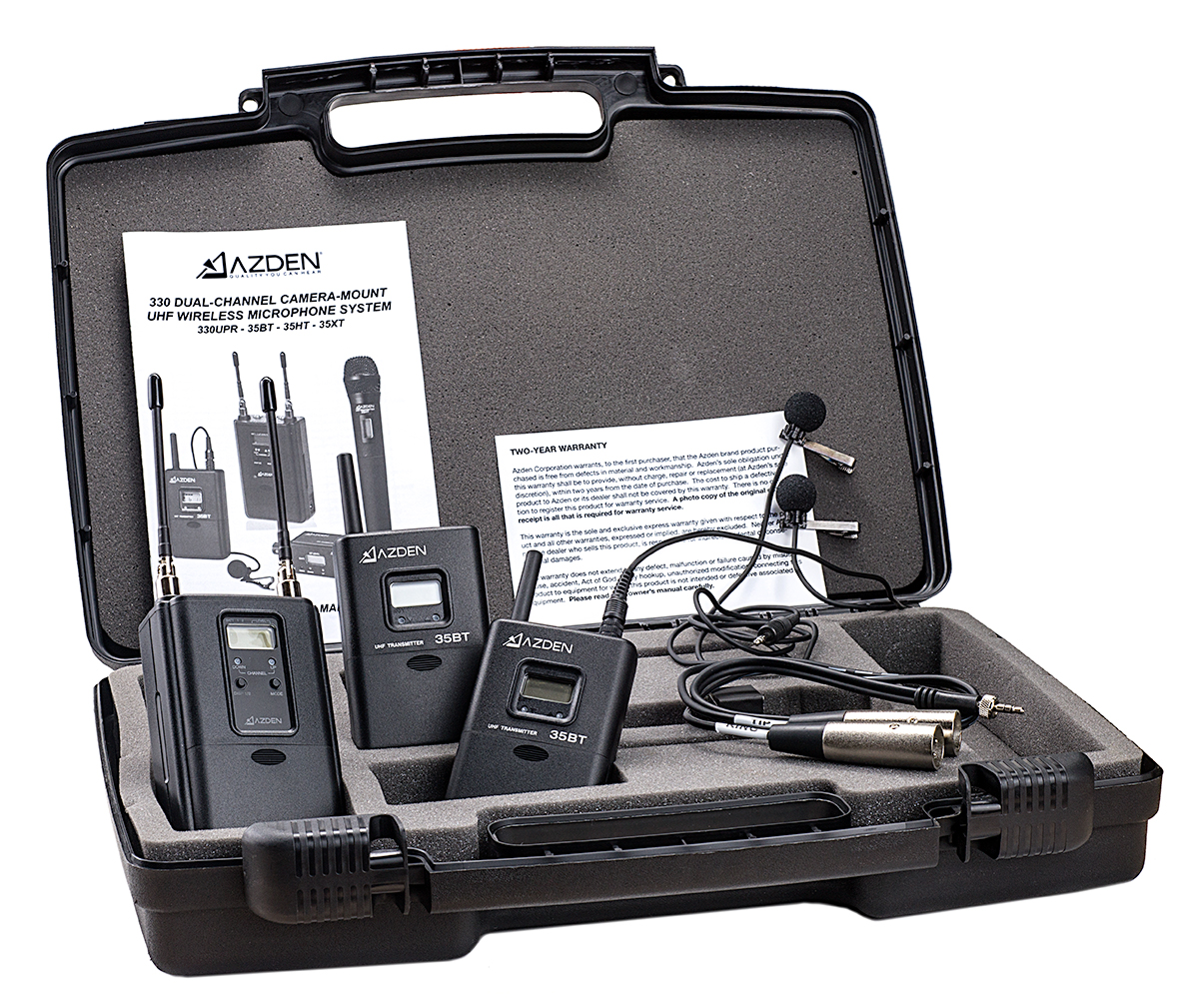 AZDEN 330LT (330 LT) ENG / Pro Wireless Dual Channel Combo Pack