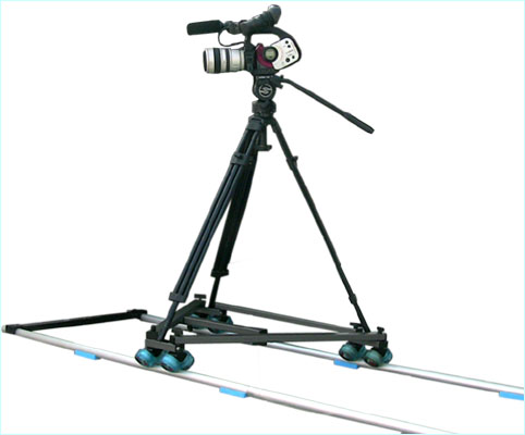 INDIE  DOLLY / SWIFT WHEEL DOLLY  &   TRACK  RAIL  KIT  ( 4m )