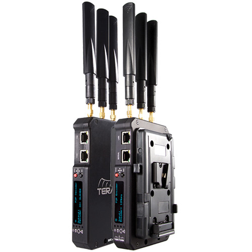 Teradek Beam Transmitter & Receiver Set with Two V-Mount Plates