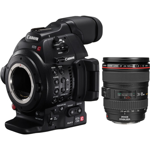 Canon EOS C100 Mark II Cinema EOS Camera with EF 24-105mm IS II USM