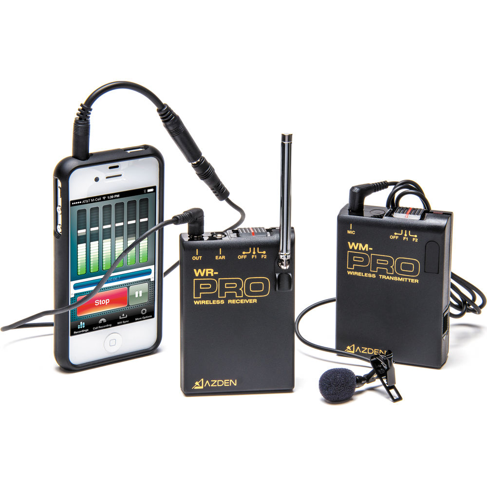 AZDEN WLX-PRO+i VHF WiIRELESS LAVALIER MICROPHONE SYSTEM for Cameras & Mobile Devices