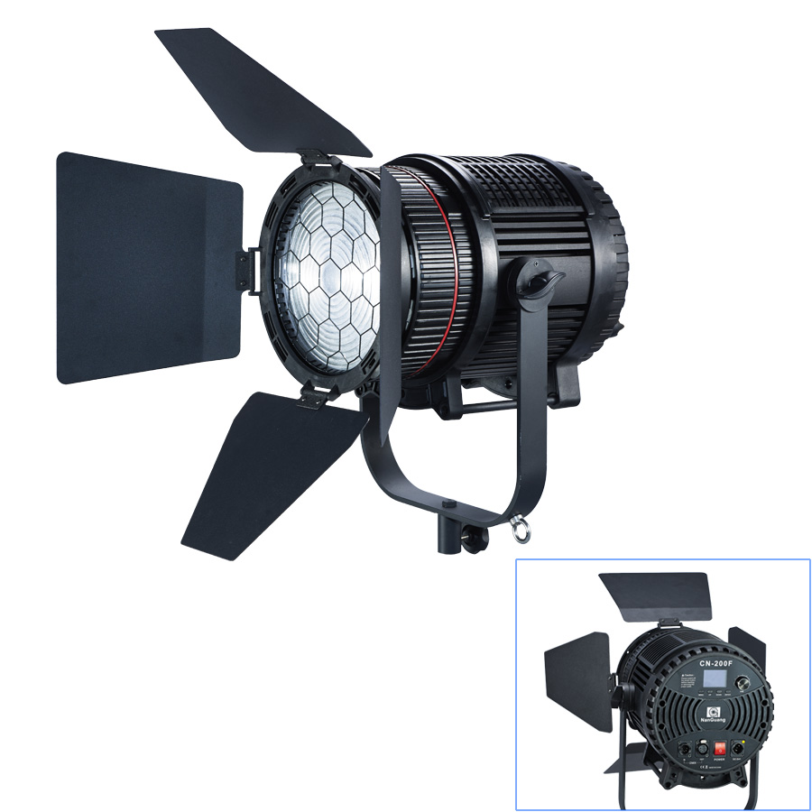 NANGUANG CN-200F WI-FI PROFESSIONAL FRESNEL LED SPOT  LIGHT 70000 LUX