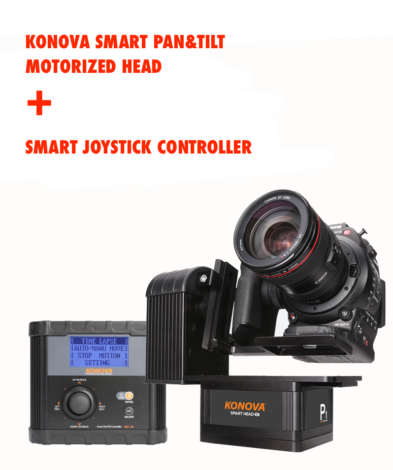Konova Smart Pan & Tilt Motorized Head + Smart Joystick Controller
