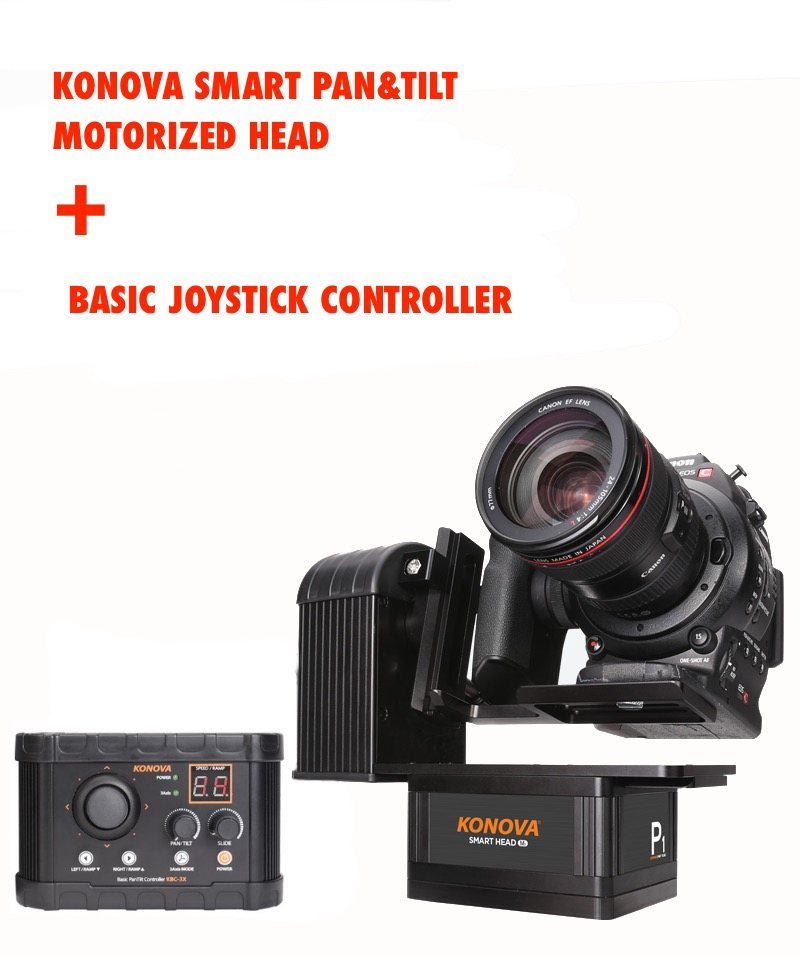 Konova Smart Pan & Tilt Motorized Head + Basic Joystick Controller