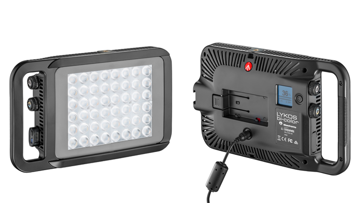 LITEPANELS / MANFROTTO LYKOS BICOLOR On-Camera LED Light MLL1300-BI