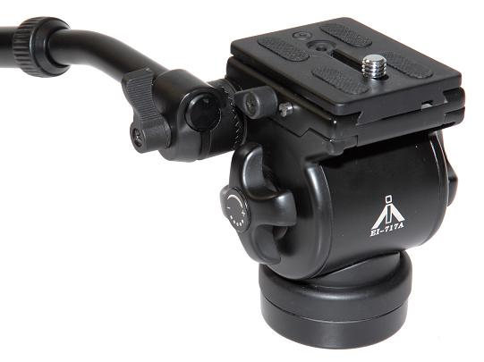E-IMAGE EI-717AH (3453) FLUID DRAG TRIPOD HEAD FLAT BASE (0 - 6 kg)