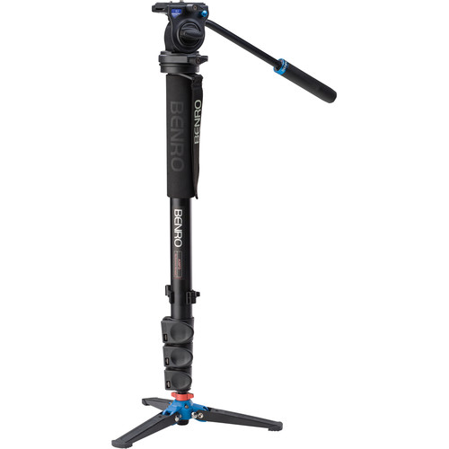 BENRO A38FDS2 ALUMINIUM VIDEO MONOPOD + S2 FLUID HEAD KIT