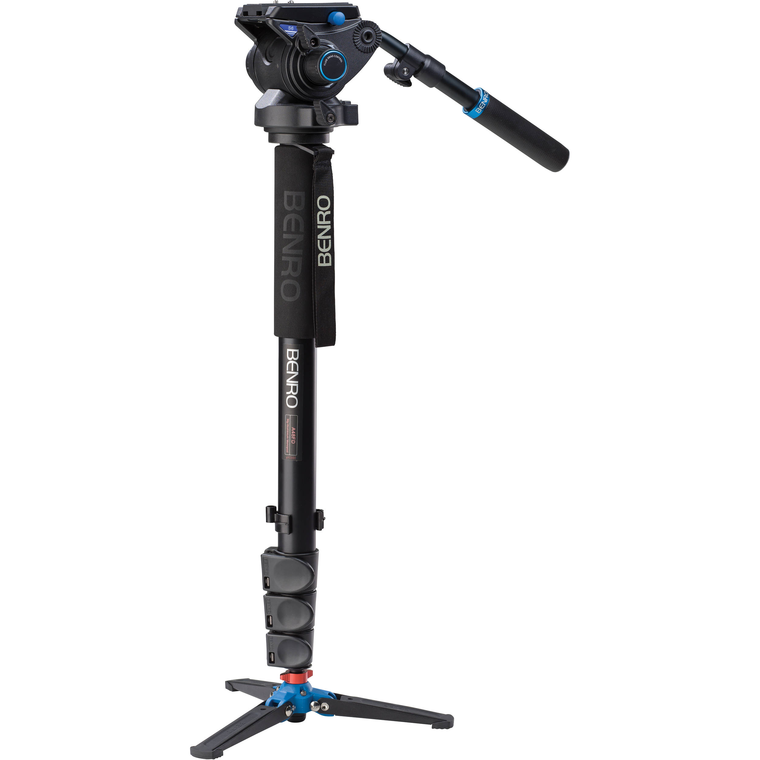 BENRO A48FDS6 ALUMINIUM VIDEO MONOPOD + S6 FLUID HEAD