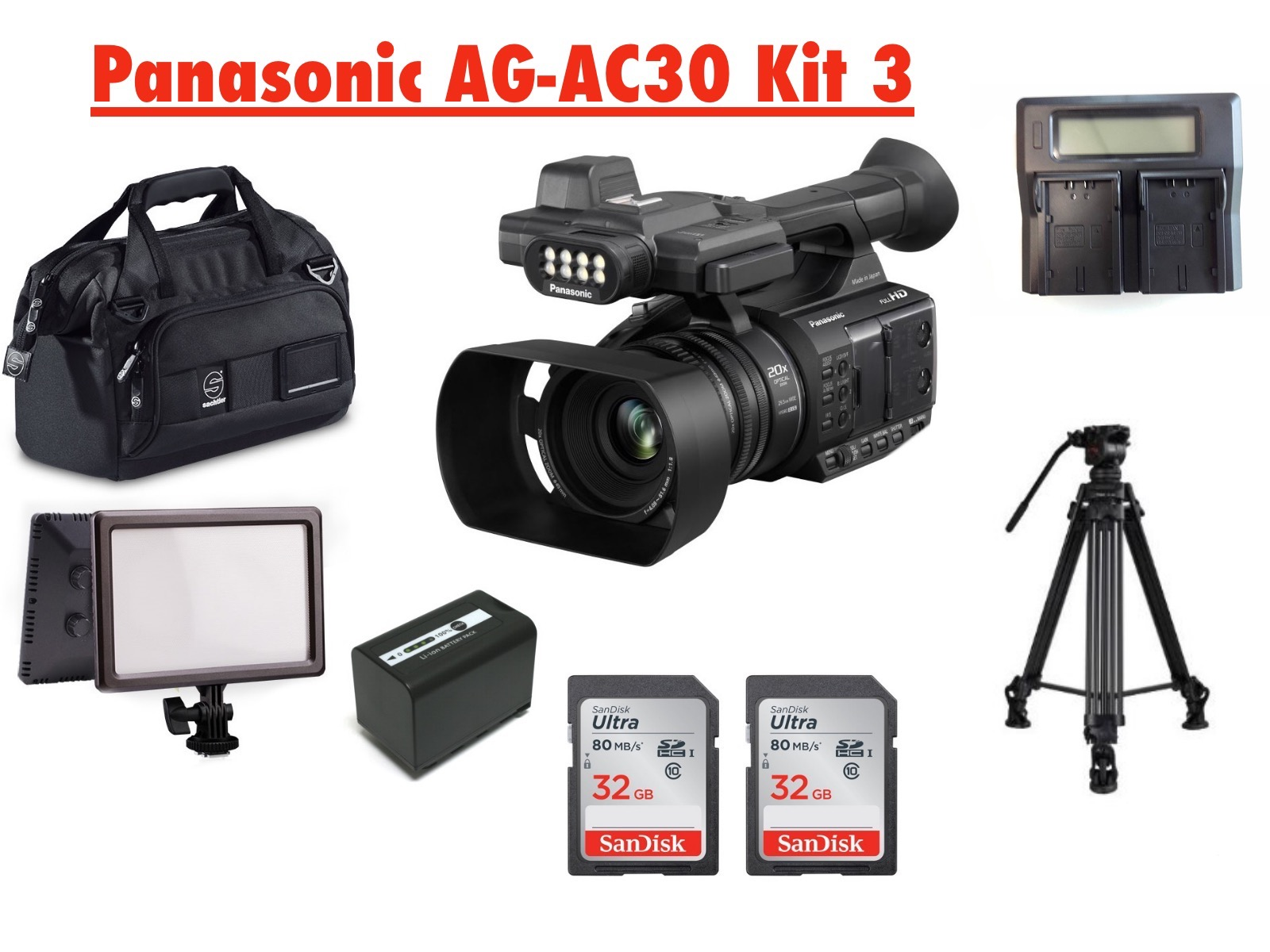 PANASONIC AG-AC30 BROADCAST KIT 3
