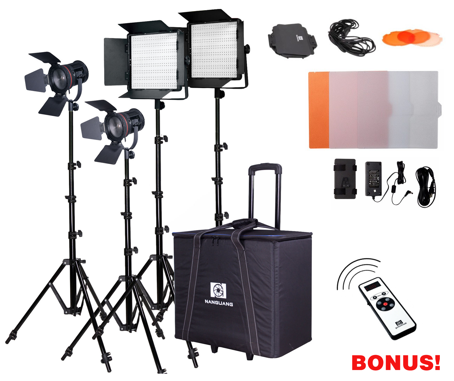 NANGUANG STUDIOSET INTERVIEW LIGHT 6000 (2 X CN-600SA + 2 X CN-30F)