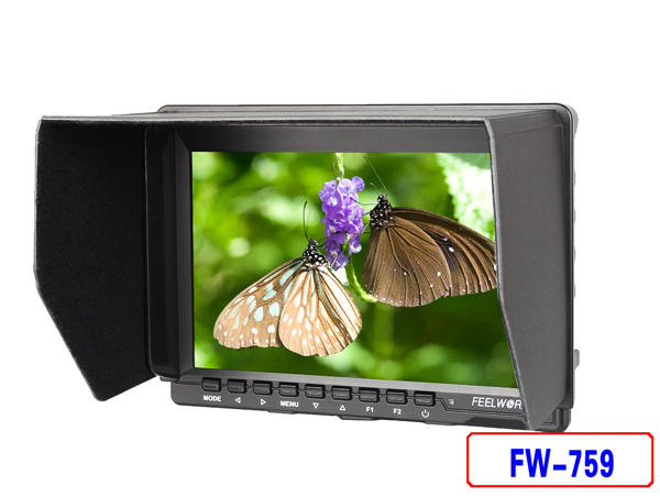 FEELWORLD FW759 7 inch IPS HDMI ULTRA SLIM On-Camera Monitor