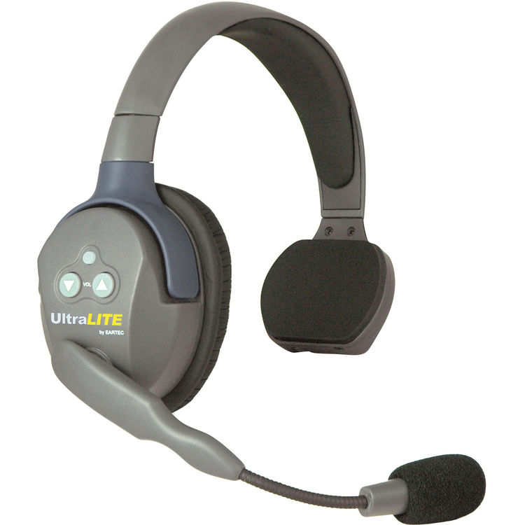 EARTEC UltraLITE ULSR Single-Ear Remote Headset with Rechargeable Lithium Battery