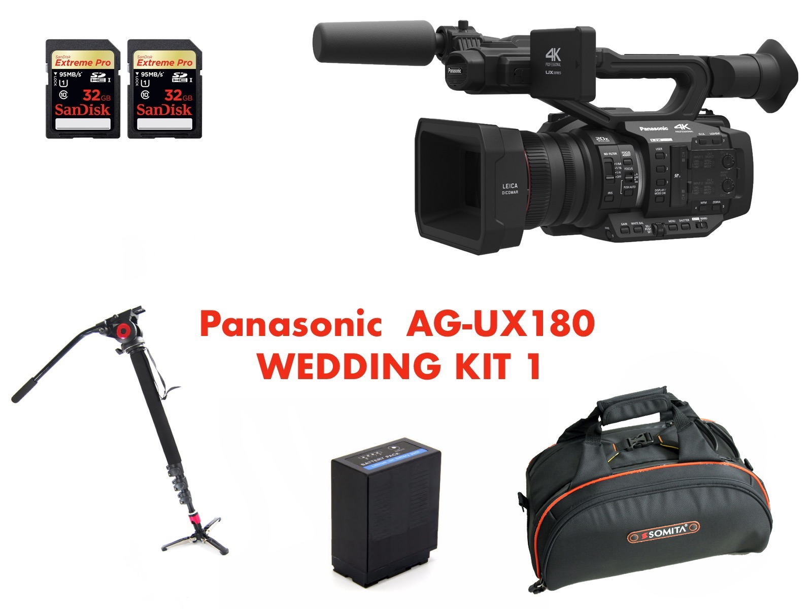 PANASONIC AG-UX180 WEDDING KIT